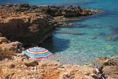 Vista de la playa del isulidda imagen de archivo libre de regalías
