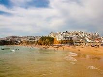 Vista de la playa del mar Fotos de archivo