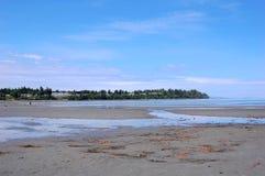 Vista de la playa del qualicum Foto de archivo