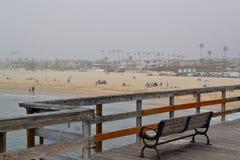 Vista de la playa del sello, CA del embarcadero foto de archivo libre de regalías