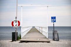 Vista de la playa en Malmö, Suecia Imagenes de archivo