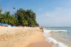 Vista de la playa en Pattaya Imágenes de archivo libres de regalías