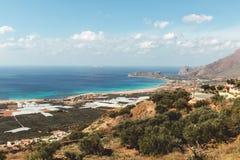Vista de la playa de Falasarna Fotos de archivo