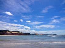 Vista de la playa famosa del Pipa - para el web fotos de archivo libres de regalías