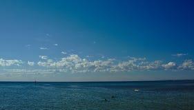 Vista de la playa de Frankston el sábado fotografía de archivo libre de regalías