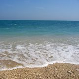 Vista de la playa de Le Due Sorelle fotografía de archivo