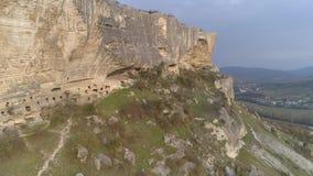 Vista de la playa de piedra y del Mar Negro almacen de video