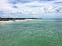 Vista de la playa imagen de archivo