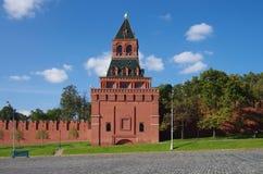 Vista de la Plaza Roja con la pendiente de Vasilevsky en Moscú, Rusia Foto de archivo