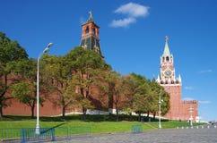 Vista de la Plaza Roja con la pendiente de Vasilevsky en Moscú, Rusia Fotografía de archivo