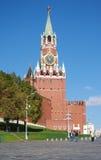 Vista de la Plaza Roja con la pendiente de Vasilevsky en Moscú, Rusia Foto de archivo libre de regalías