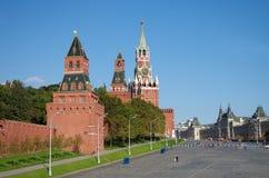 Vista de la Plaza Roja con la pendiente de Vasilevsky en Moscú, Rusia Imagen de archivo