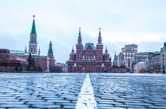 Vista de la Plaza Roja en el amanecer Imagen de archivo