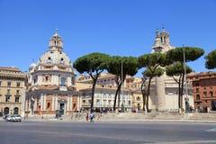 Vista de la plaza Venezia, Roma, Italia del cuadrado de Venecia Imagen de archivo