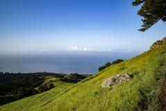 Vista de la primavera pacífica del Mt Tamalpais Fotos de archivo libres de regalías