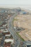 Vista de la 'promenade' de Blackpool, Lancashire, Inglaterra, Reino Unido Imagen de archivo