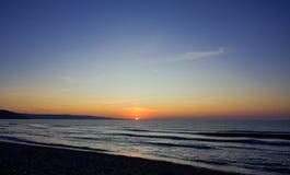 Vista de la puesta del sol Fotos de archivo libres de regalías