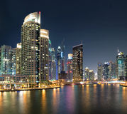 Vista de la región de Dubai - puerto deportivo de Dubai Foto de archivo