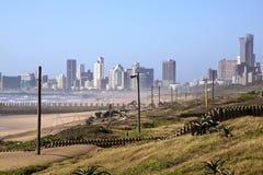 Vista de la rehabilitación de la duna en la milla de oro de Durban Foto de archivo libre de regalías