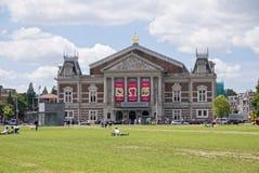 Vista de la sala de conciertos de Concertgebouw en Amsterdam Fotos de archivo libres de regalías