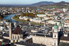 Vista de la Salzburg, Austria Imagen de archivo libre de regalías