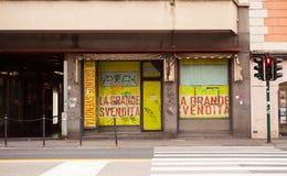 Vista de la tienda cerrada Fotos de archivo