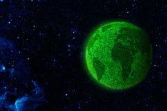 Vista de la tierra de la luna imagen de archivo libre de regalías