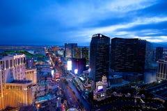 Vista de la tira de Las Vegas desde arriba foto de archivo