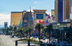 Vista de la tira de Las Vegas fotos de archivo libres de regalías