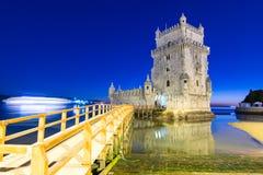 Vista de la torre de Belem, Lisboa, Portugal Fotos de archivo libres de regalías