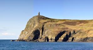 Vista de la torre de Brada en la isla del hombre Fotografía de archivo