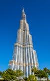 Vista de la torre de Burj Khalifa en Dubai Fotos de archivo libres de regalías