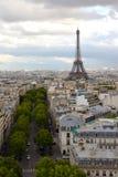 Vista de la torre de Eifel de Arc de Triomphe Imágenes de archivo libres de regalías