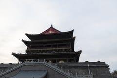 Vista de la torre del tambor de Xian - imagen fotografía de archivo libre de regalías