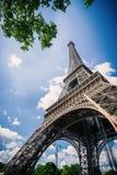 Vista de la torre Eiffel Foto de archivo libre de regalías