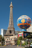 Vista de la torre Eiffel en Las Vegas Imagen de archivo libre de regalías