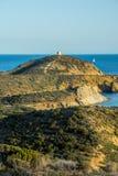 Vista de la torre de Malfatano Fotografía de archivo libre de regalías