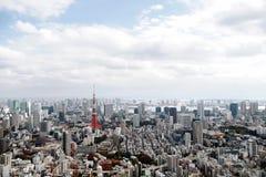 Vista de la torre de Tokio de la colina de Roppongi Imágenes de archivo libres de regalías
