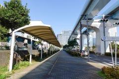 Vista de la trayectoria para el peatón en Tokio Foto de archivo