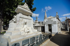Vista de la tumba de presidente Carlos Pellegrini fotos de archivo
