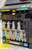 Vista de la vida interna de una impresora laser foto de archivo