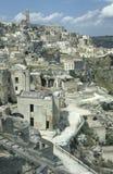 Vista de la vieja parte de Matera, Italia Imagen de archivo libre de regalías
