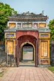 Vista de la vieja puerta en la ciudad imperial de la tonalidad Fotos de archivo libres de regalías