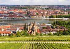 Vista de la Wurzburg Foto de archivo libre de regalías