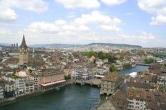 Vista de la Zurich céntrica, Suiza Fotos de archivo libres de regalías