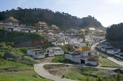 Vista de Langmusi Foto de archivo libre de regalías