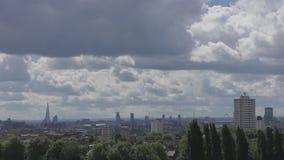 Vista de las áreas centrales de Londres almacen de video