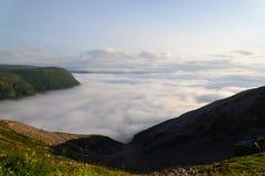 Vista de las altiplanicies y de los acantilados Foto de archivo libre de regalías