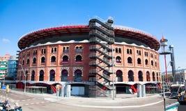 Vista de las arenas de Barcelona de la plaza de toros imagen de archivo libre de regalías