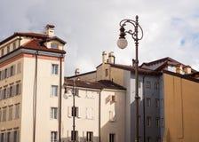 Vista de las casas de Trieste Foto de archivo